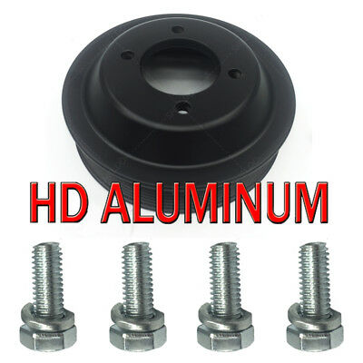 HEAVY DUTY ALUMINUM WATER PUMP PULLEY + INSTALL BOLTS E46 Z3 E53 X5 E83 X3 SET 5