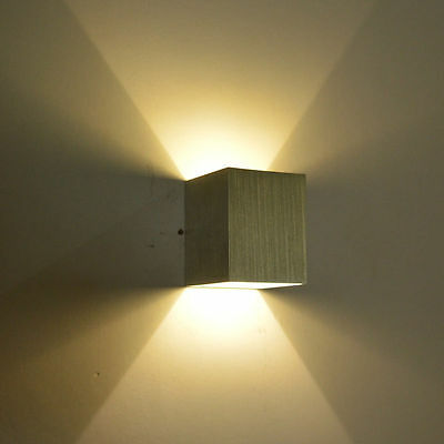 Square Multi-Color 3W LED Wall Sconce Light Up&Down Indoor Wall ...
