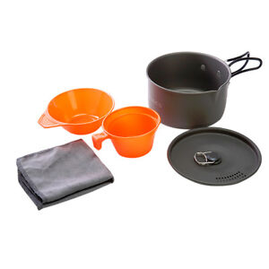1L aluminum pot cookware for outdoor camping hiking backpacking