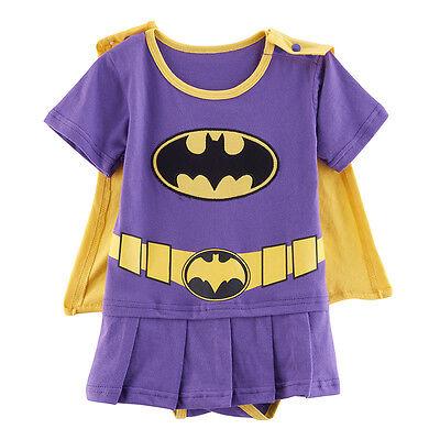 Baby Girl Batman Costume Bodysuit Dress Newborn Playsuit Infant Jumpsuit Outfit (Girl Batman Costumes)