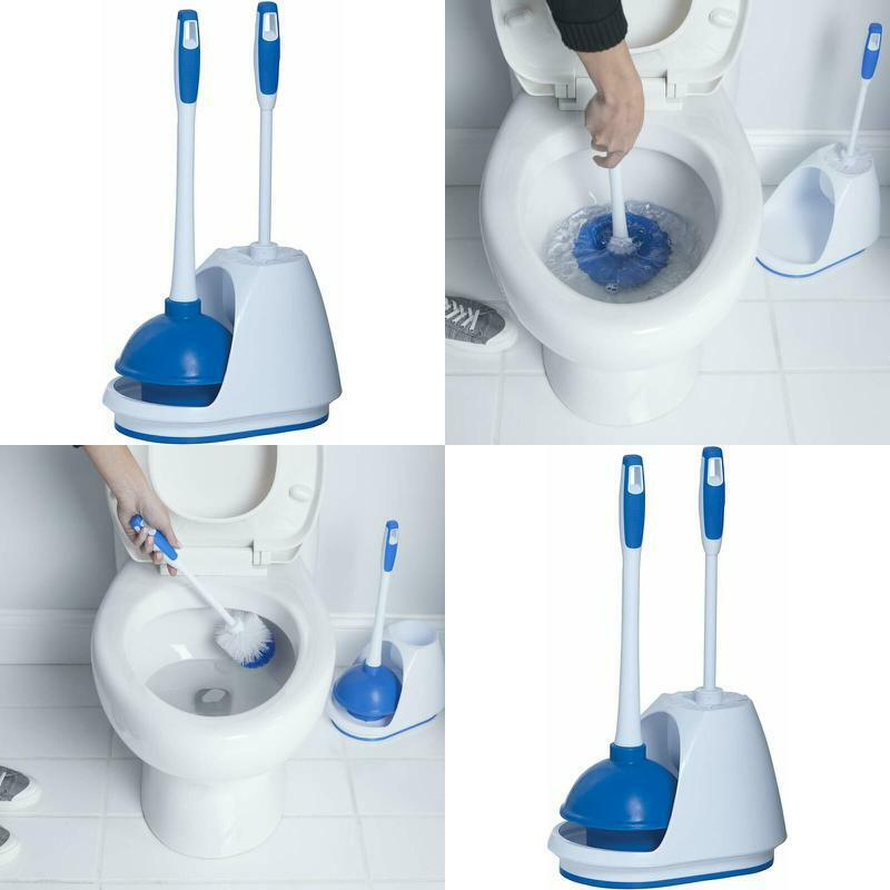 Mr. Clean 440436 Turbo Plunger And Bowl Brush Caddy Set FREE