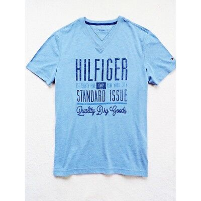NWT Tommy Hilfiger Men's Short Sleeve V-neck Graphic Tee Size: L