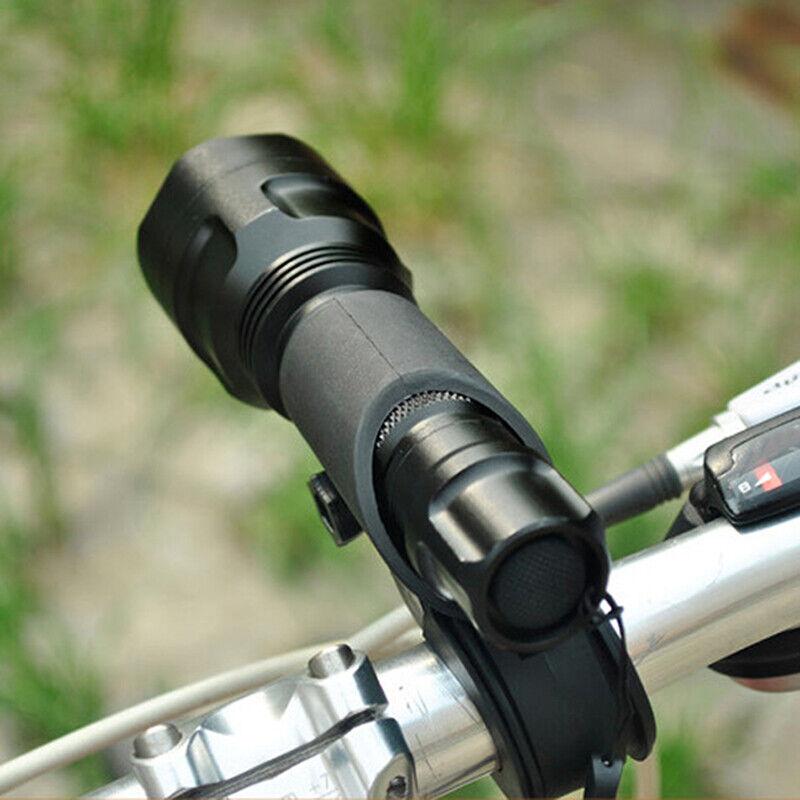 White Bicycle Bike Wheel Safety Spoke Reflector Mount Clip Warning Lamp Set G3V1