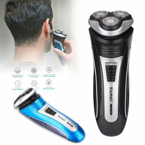 Men Electric Beard Shaver Razor 3D Triple Floating Head Pop-