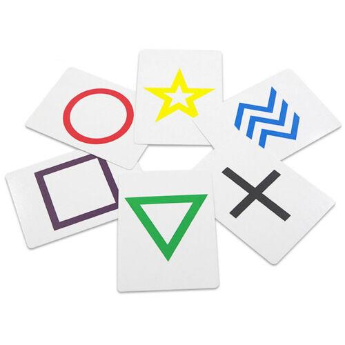 Telepathy Six Cards Mind Reading Mentalist Magic Trick Props /& Instructions D