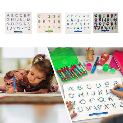 Magnetic Writing Drawing Board Toy Kids Educational Alphabet Digital QRN