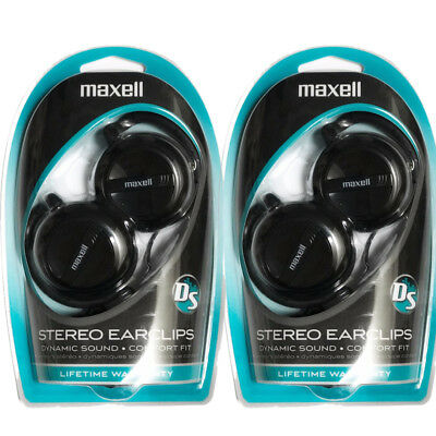 (2 Pack Maxell Stereo Earclip 190561 EC-150 Behind The Ear Earclip/Headphones)