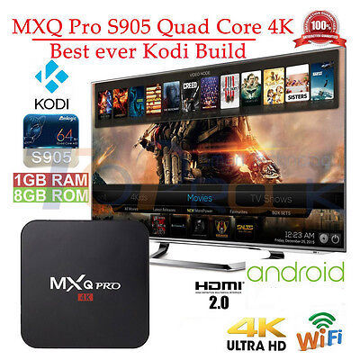 Quad-Core Fully Loaded MXQ PRO 4K 1080p Android 6.0 OTT TV Media Set Top Box