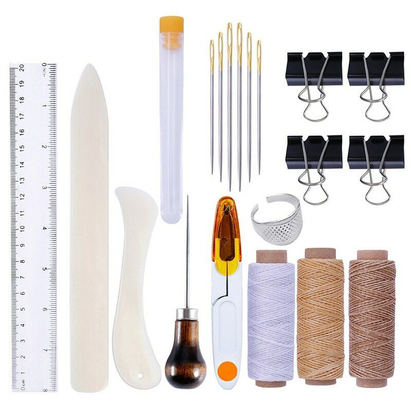 15pcs  leather craft sewing accessories needle acupuncture shoe repair tools set