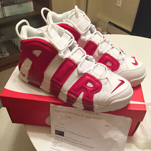 Nike Air More Uptempos ' Gym Red Pippen' *DEADSTOCK*