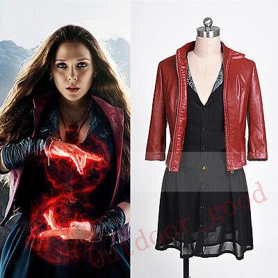 2015 New Avengers: Age of Ultron Wanda Maximoff Scarlet Witch Cosplay - Wanda Maximoff Costume