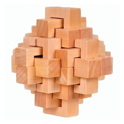 Wood Cube - Fashion Wood Cube Puzzle Brain Teaser Toy Game Gift for Adults Kids Intelligence