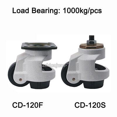 4pcs Adjustable Industrial Caster Retractable Leveling Machine Caster Load1000kg