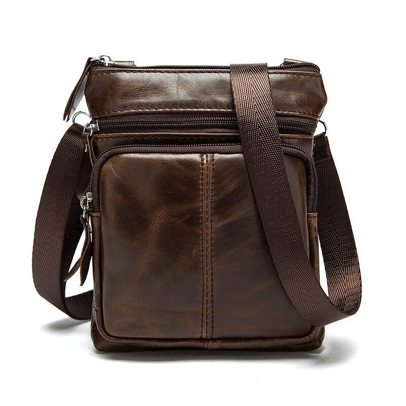 2a8e49ac0dce Genuine leather men bags cowhide flap bag shoulder crossbody small bag one  strap