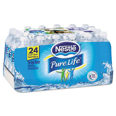 Nestle Waters Pure Life Purified Water 0.5 liter Bottles 24/Carton 101264