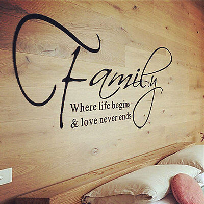 Family Love Quote Wall Sticker Decal Removable Mural Art Vinyl Home Decor DIY NE