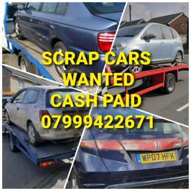 SCRAP CARS VANS BOUGHT CASH !