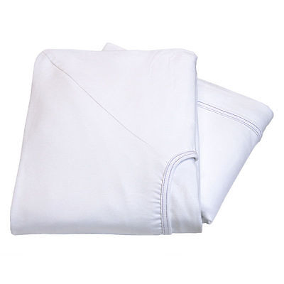 6 Premium White Contour Twin Knitted Fitted Sheet Hospita...