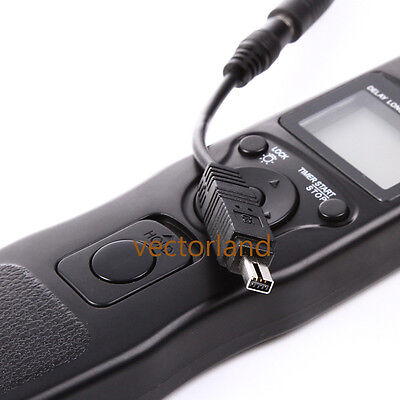 LCD Time Lapse Intervalometer Remote Timer Shutter Cable for Nikon D80 D70s UK