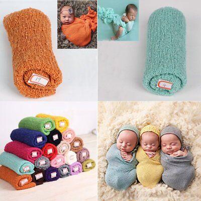 Knit Wrap - Newborn Stretch Knit Wrap Photography Nubble Wraps Props Baby Kids Cozy 40*150cm