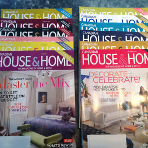 2017 year of House and Home Magazine (12 issues)