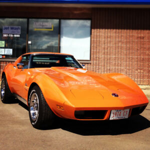 Numbered 1974 C-3 Corvette