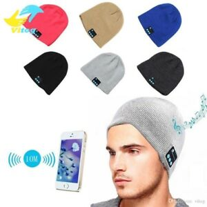 Wireless Bluetooth Headset Hat Toque Cap Music Stereo  Speakers