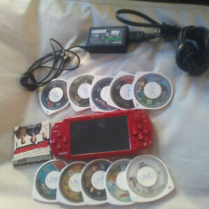 Red PSP (10 Games + 1 movie)