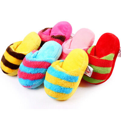 Dog Toy Pet Puppy Chew Squeaky Squeaker Sound Plush Slipper Shape Toys Brand New - Dog Plush Toys