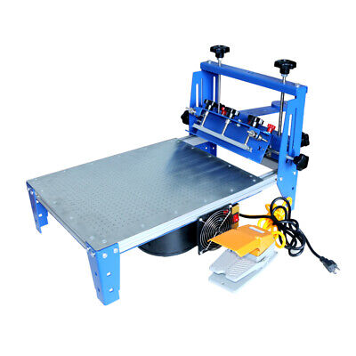 1 Color Vacuum Pallet Screen Printing Press Printer Micro-adjust Press 16x20