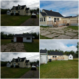 75 Acre 2000 Sq. Foot House 2 Garages & Private Waterfront Cabin