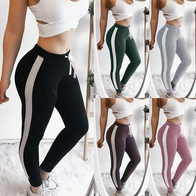 Us Stock Womens Sports Yoga Workout Gym Fitness Leggings Pants Athletic Clothes