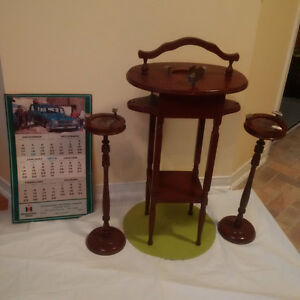 1973 CALENDAR + Antique SMOKER STAND ** See Each Price **