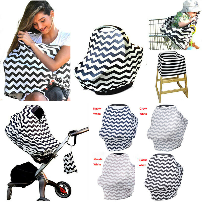 Nursing Scarf Breastfeeding Cover Baby Infant Car Seat Soft Breathable Fabric US