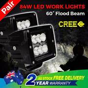 Pair CREE 84W Flood Beam LED Work Light Offroad Lamp Truck Boat North Melbourne Melbourne City Preview