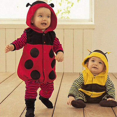 Baby Boy Girl Halloween Fancy Dress Party Costume Jumpsuits Rompers Cute Bee New - Baby Girl Bee Costume