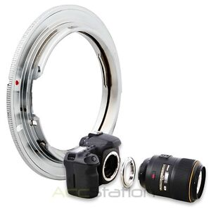 For Nikon Al F Lens to Canon EOS EF Mount Adapter Ring