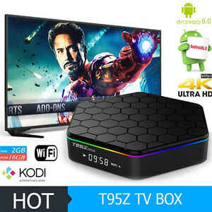T95Z plus Android 6.0 TV BOX Amlogic S912 BT WIFI Octa core 2/16