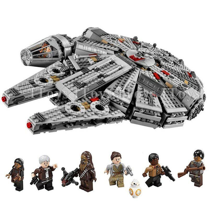 Building Blocks Compatible Legoinglys Star War Millennium Falcon Toys 1381 Pcs Building Toys