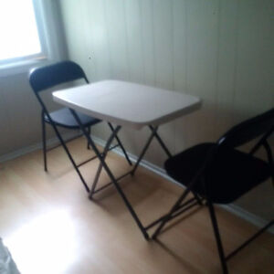Folding Table & 2 padded chairs