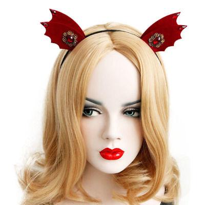 Headband for Women Halloween Goth Felt Animal Ears Devil Wings Bat Hairband Hoop](Halloween Bat Ears)