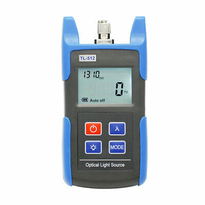 Tl512 Handheld Fiber Optical Light Source Tester Dual Wavelength Sm 13101550nm