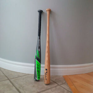 Aluminum & wood baseball bat