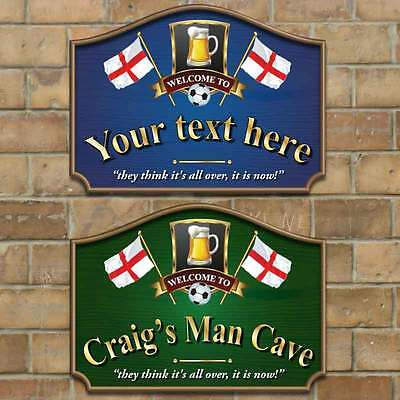 Personalised Home Bar Sign, England Football Sign,St Georges Man Cave Pub sign