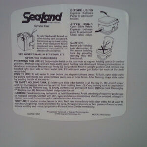 Sealand 960 Portable Toilet used Kawartha Lakes Peterborough Area image 3