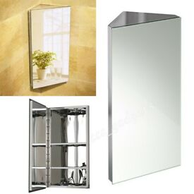 Mirrored Corner Cabinet, 600x300x350cm. Right Opening. Used but in ex.cond. No offers Collect only