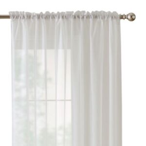 Sheer Voile Window Panels (6 Curtain Panels)