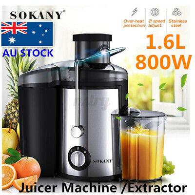 1.6L Electric Juicer Blender Juice Extractor Mixer Vegetable Processor Machine