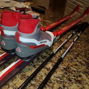 X-Country Skis, Boots, Poles - Like Brand New!