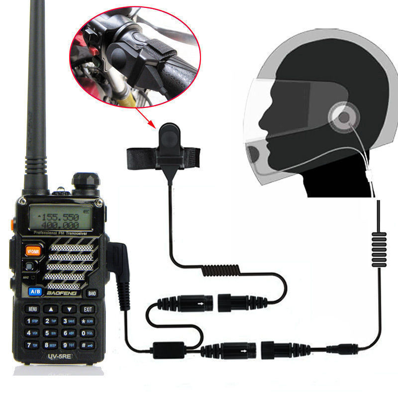 Motorcycle Helmet Headset for KENWOOD TYT F8 BAOFENG 5R MML UV10 Radio 2 PIN